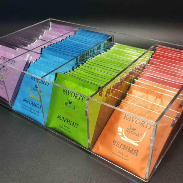 Набор чая RAMUK Favorit в пластиковом боксе (4 деления)