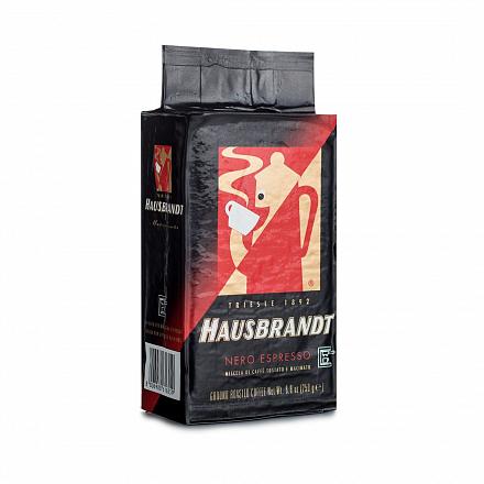 Кофе молотый Hausbrandt Nero, для кофеварок Мока, вакуумная упаковка, 250 г