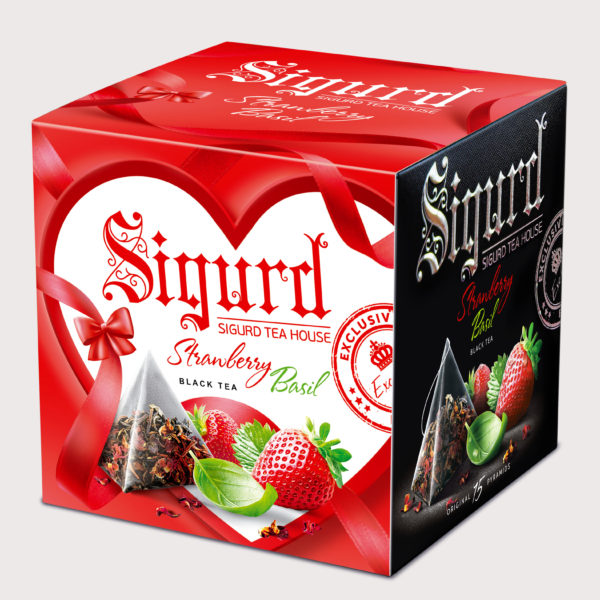 SIGURD черный Strawberry & Basil ЛЮБОВЬ